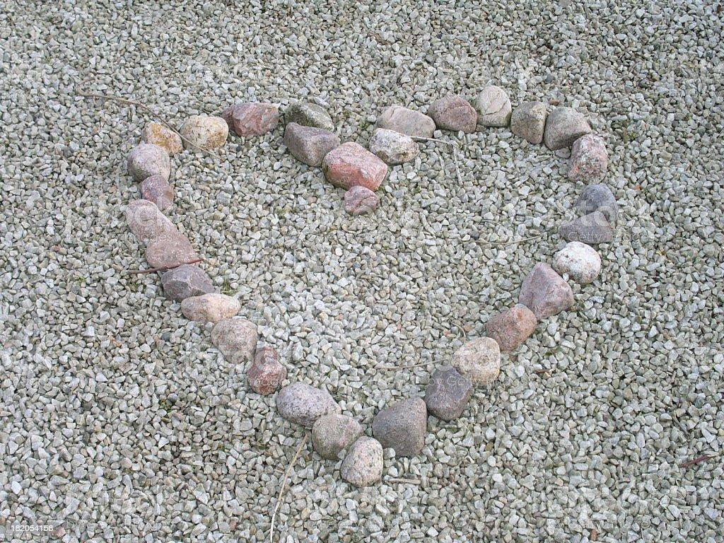 Heart of Stones royalty-free stock photo