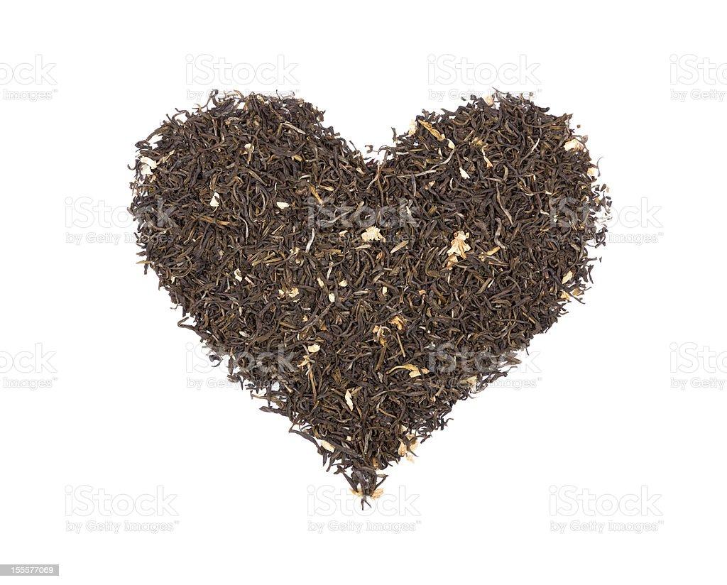 Heart Of Tea stock photo
