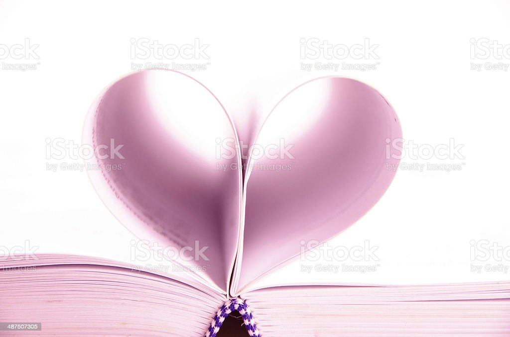 heart of the book's pages royalty-free stock photo