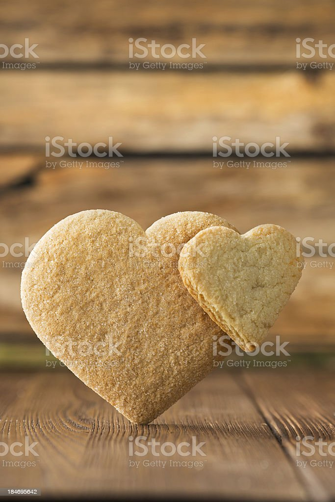 Heart of the cookie. royalty-free stock photo