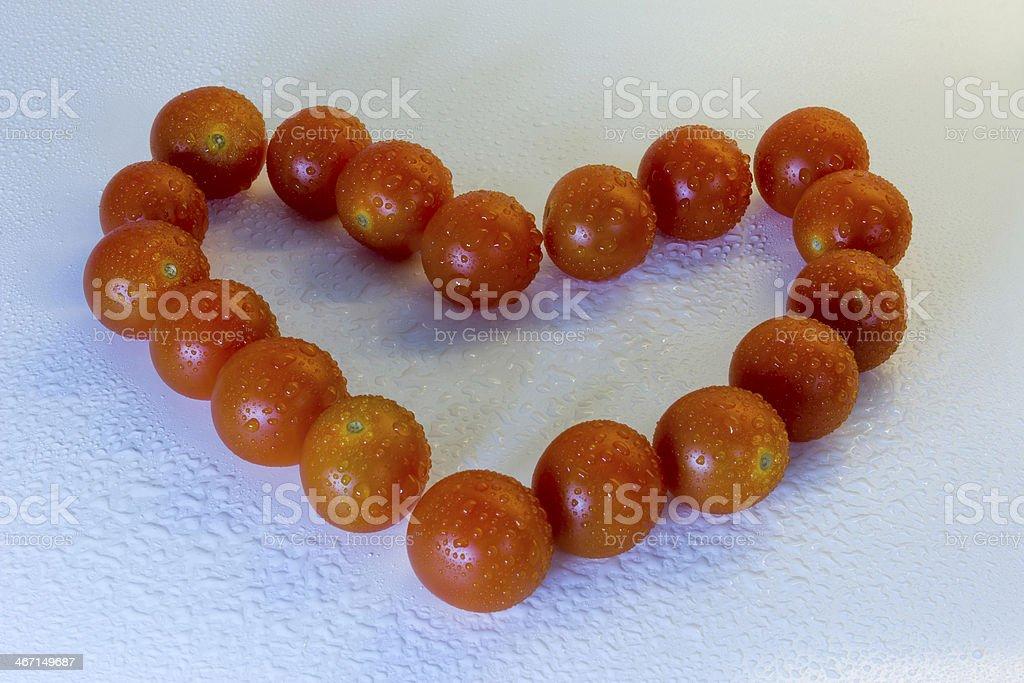 Heart of tomatoes stock photo