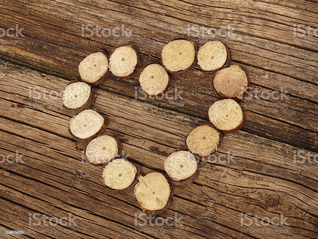 Cœur de bois photo libre de droits