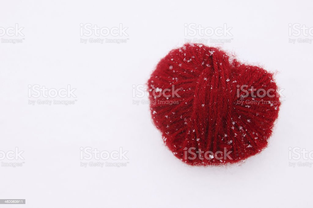 heart of woolen threads stock photo