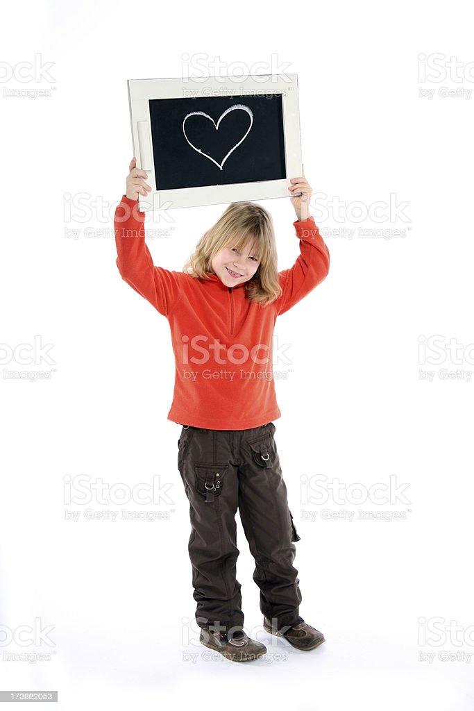 heart on board royalty-free stock photo