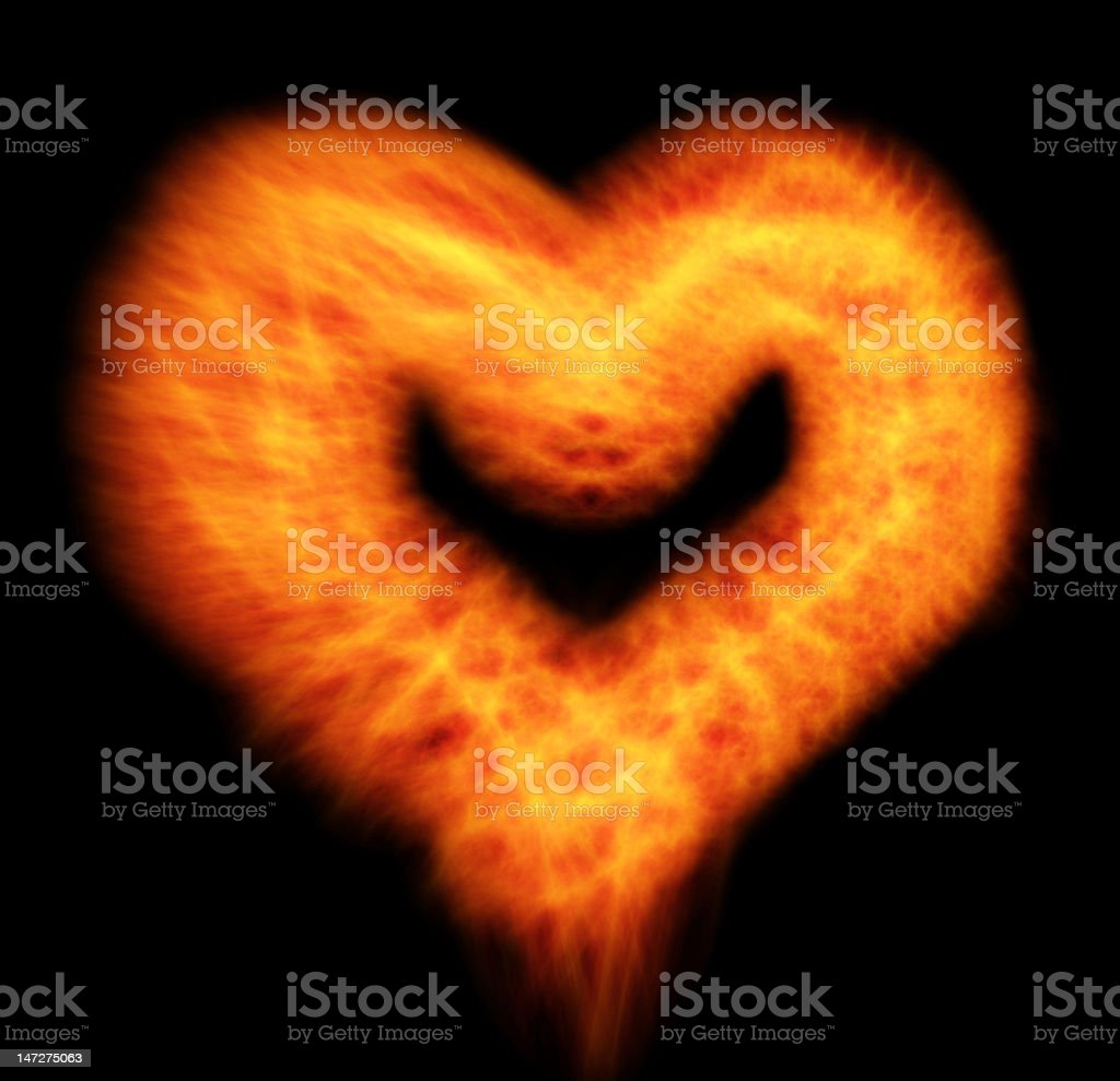 heart on fire royalty-free stock photo