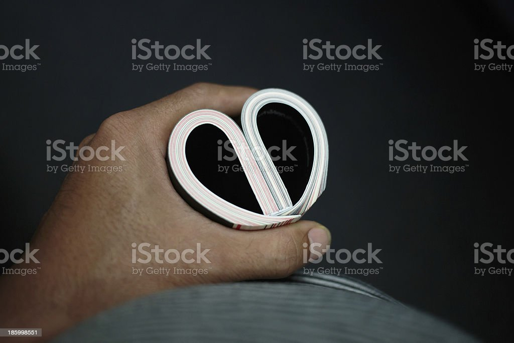 Heart on hand royalty-free stock photo