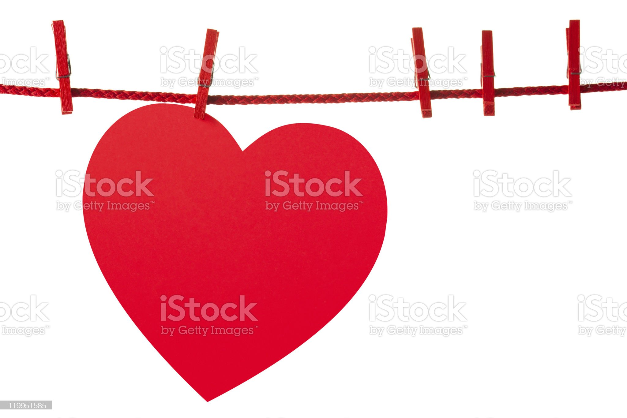 Heart on rope royalty-free stock photo