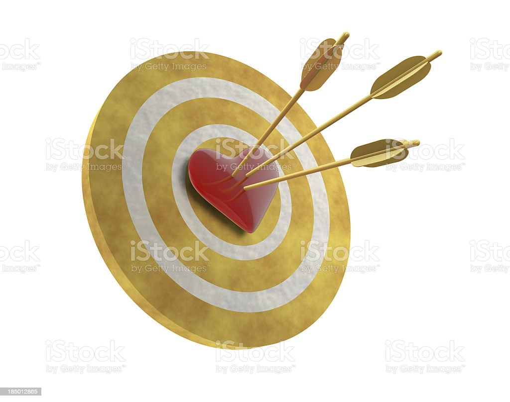 Heart on Target royalty-free stock photo