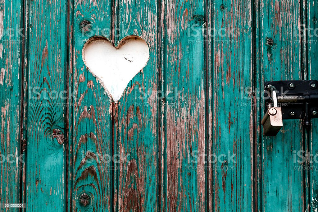 Heart On The Gate stock photo
