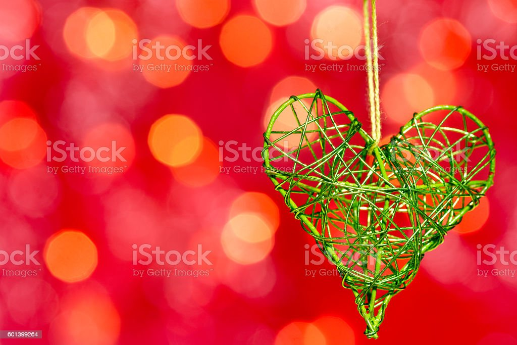 heart on the red background stock photo
