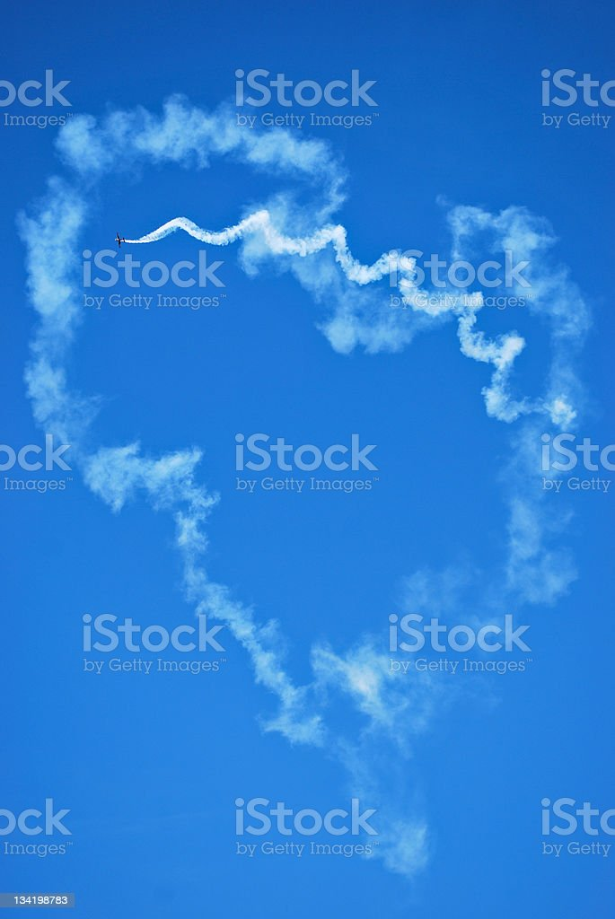 Heart on the sky royalty-free stock photo