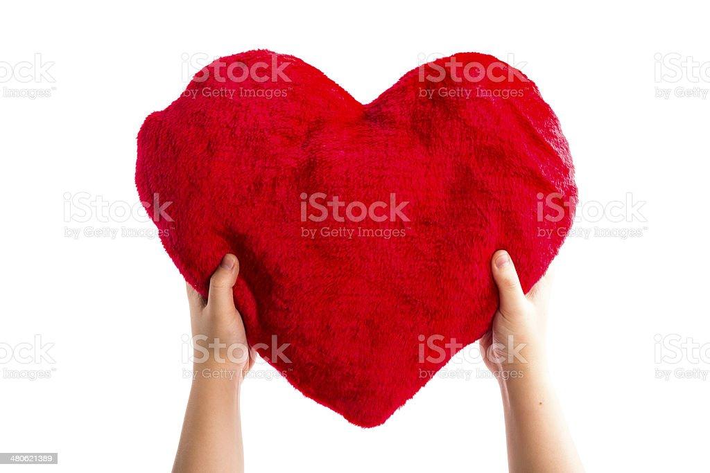heart on the sleeve royalty-free stock photo