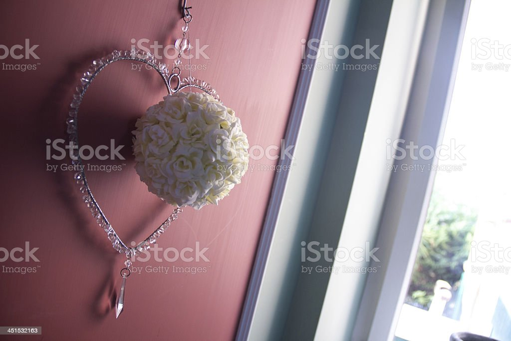 heart on the wall stock photo
