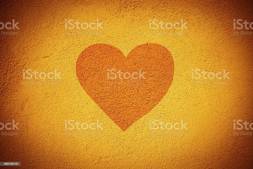 Heart on the wall royalty-free stock photo