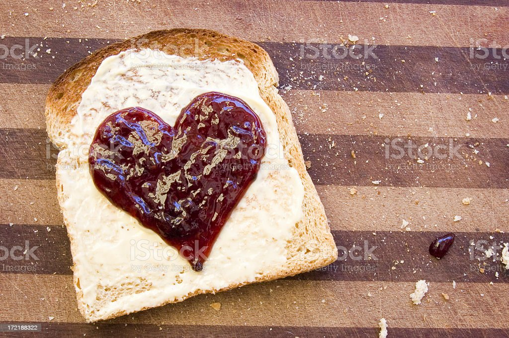 Heart on Toast royalty-free stock photo