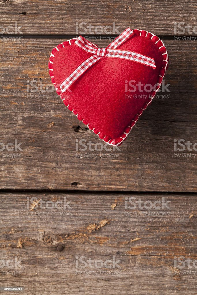 Heart on Wood royalty-free stock photo