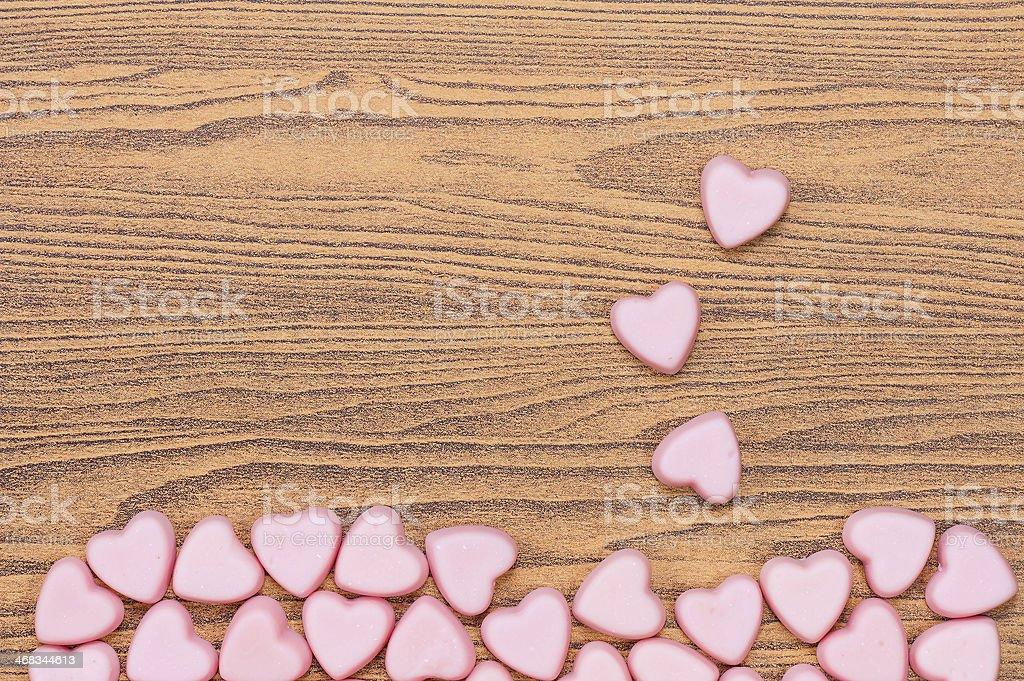 heart on wood stock photo