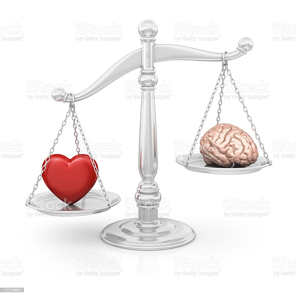 heart or brain royalty-free stock photo