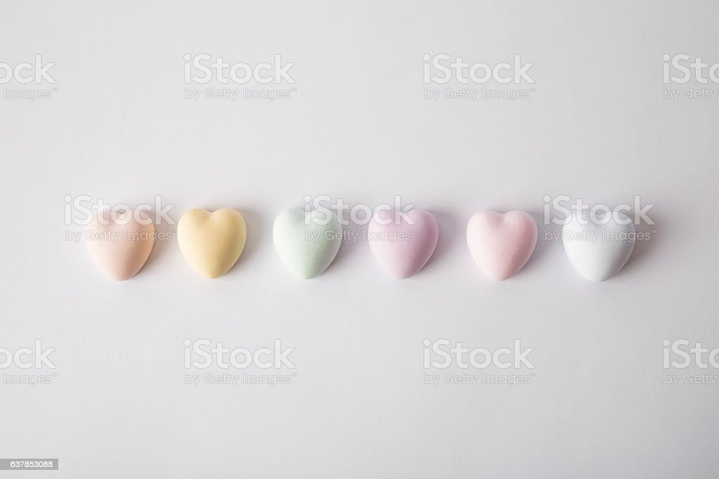 Heart pattern. Hearts on the white background. Isolated. stock photo