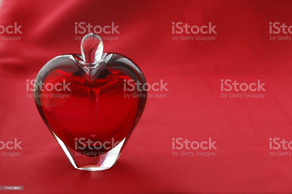 Heart Perfume Decanter royalty-free stock photo
