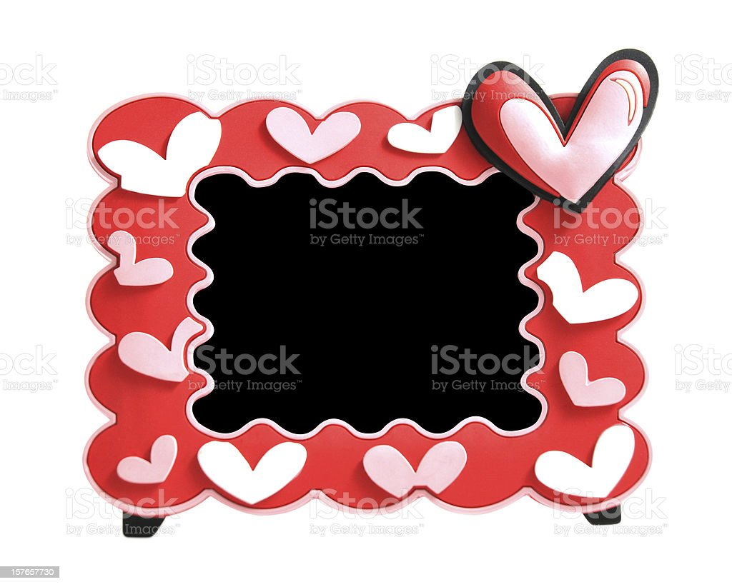 Heart picture frame royalty-free stock photo