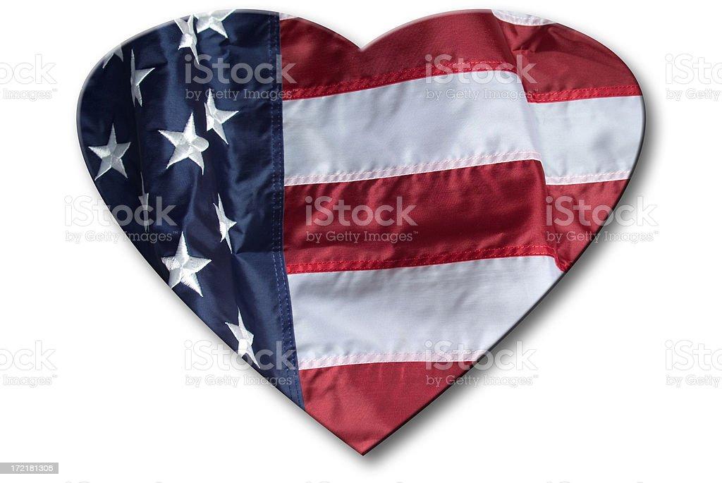 USA Heart stock photo