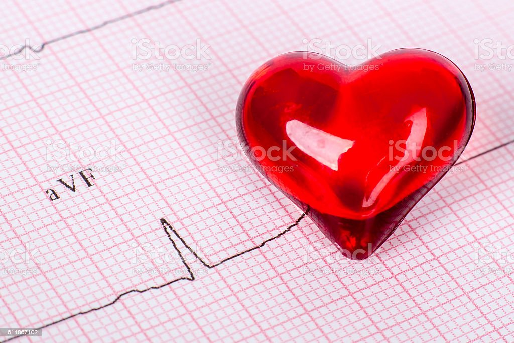 EKG heart stock photo