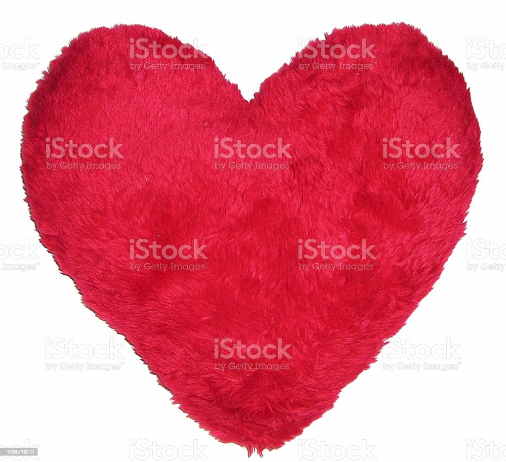 Heart pillow royalty-free stock photo