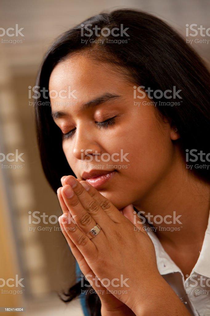 Heart Prayer royalty-free stock photo