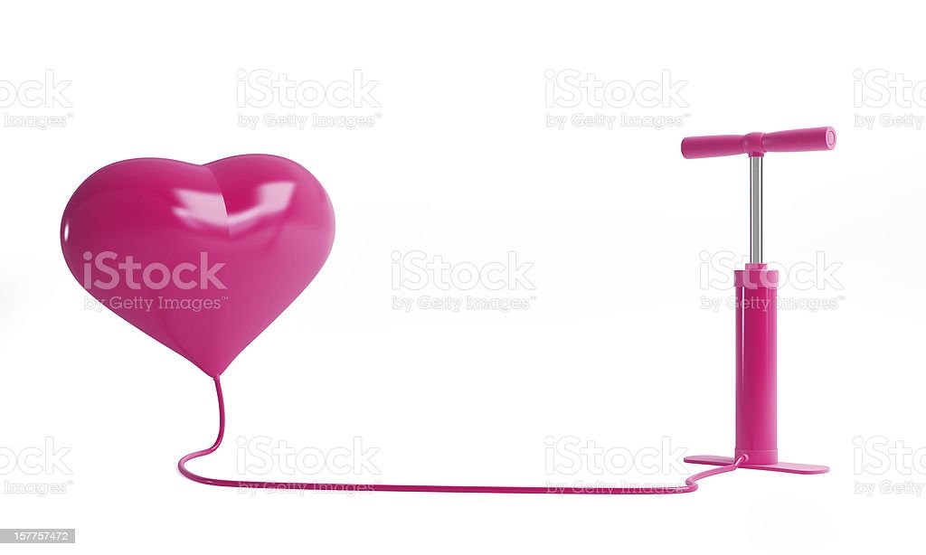 heart pump stock photo