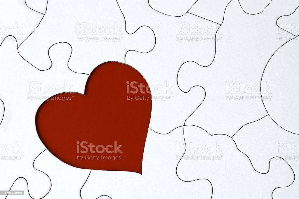 Cuore Puzzle foto stock royalty-free