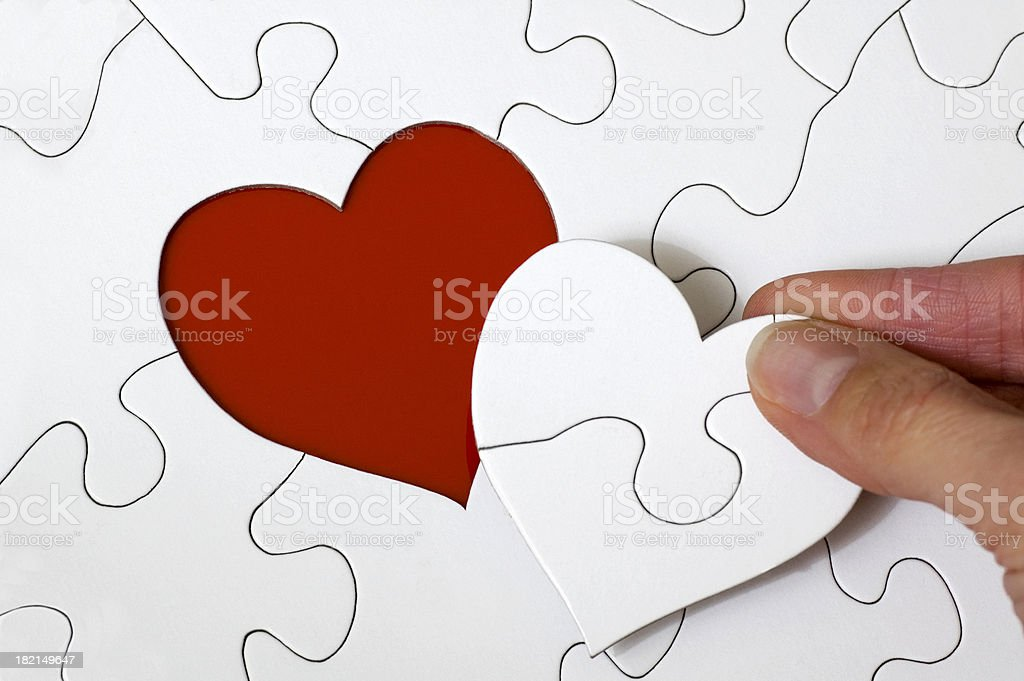 Heart Puzzle stock photo