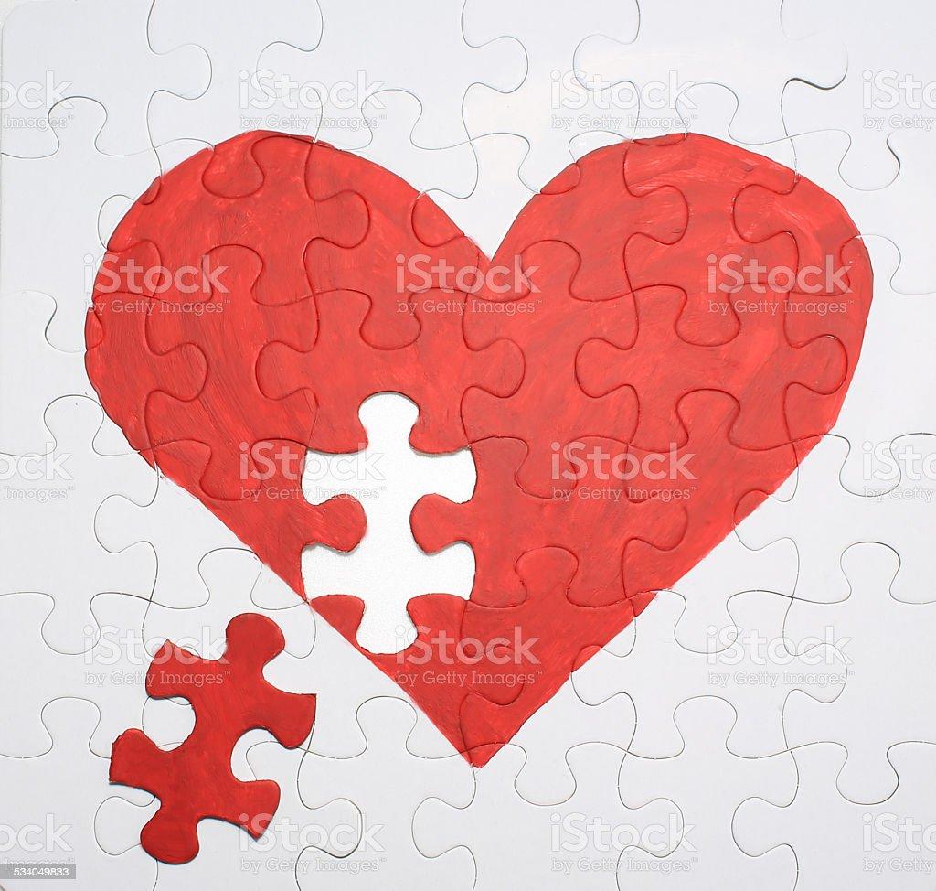 heart puzzle stock photo
