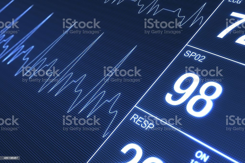 Heart Rate Monitor royalty-free stock photo