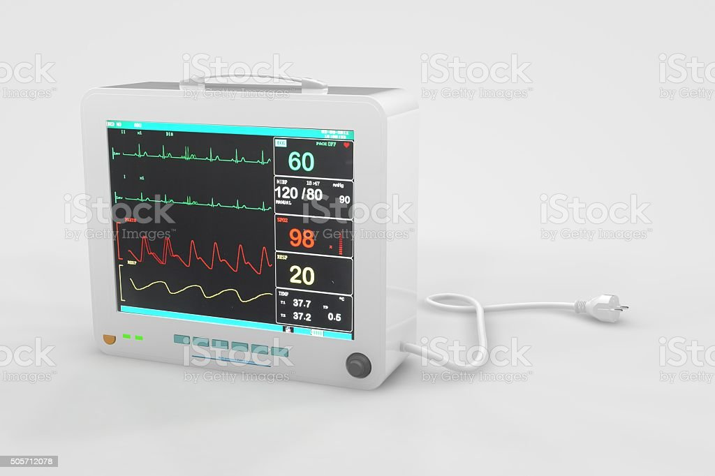 EKG Heart Rate Monitor stock photo