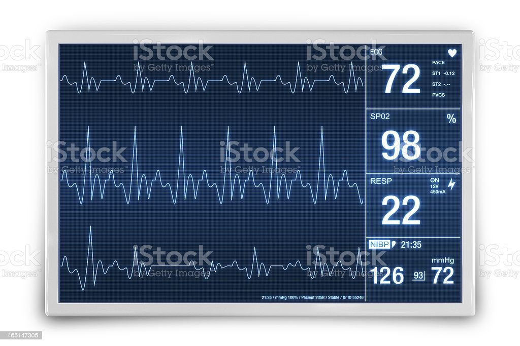 Heart Rate Monitoring Device stock photo