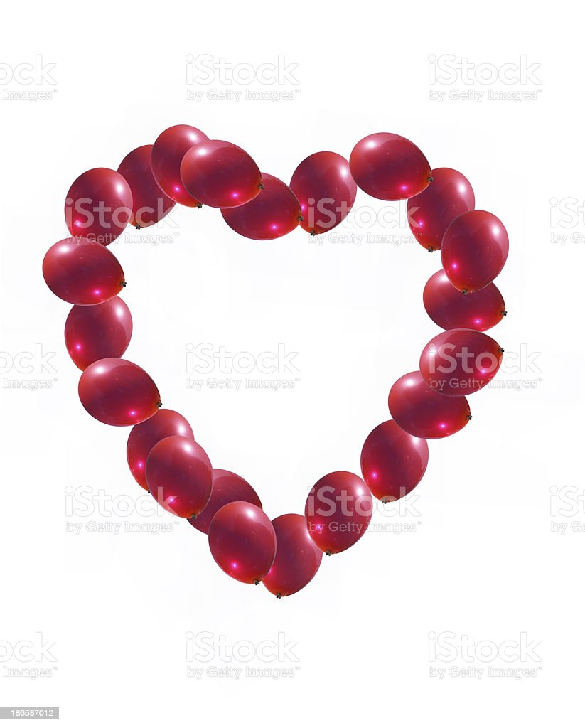 Heart  red  balloons isolated royalty-free stock photo
