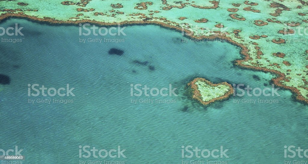 Heart Reef stock photo
