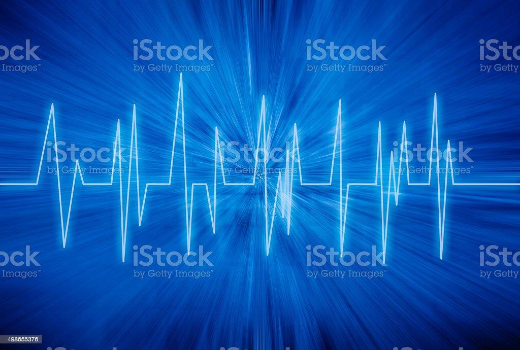 Heart rhythm stock photo