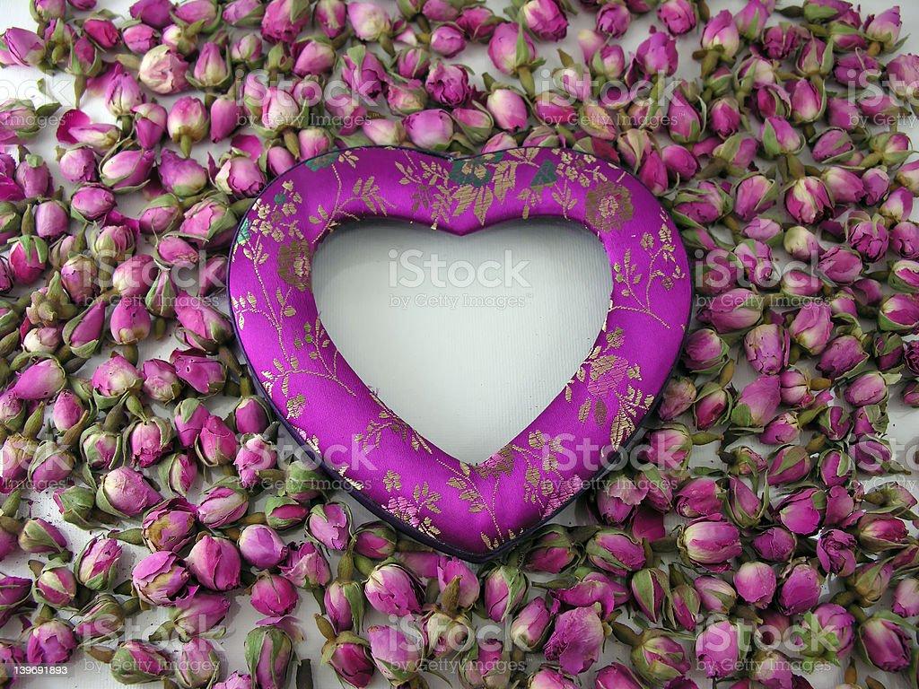 Heart & Roses royalty-free stock photo