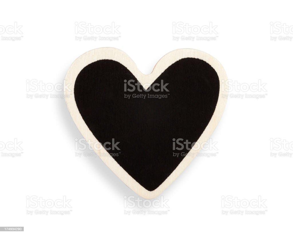Heart shape blackboard royalty-free stock photo