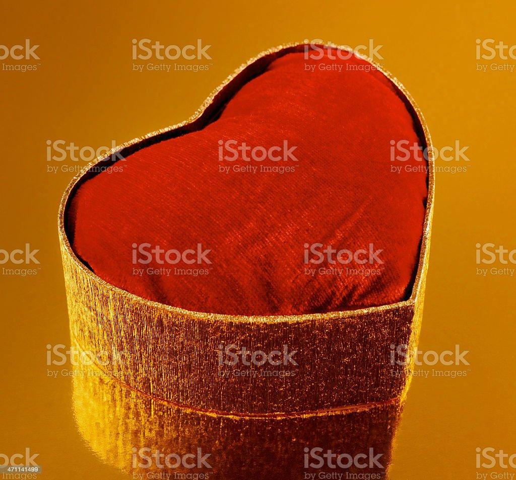 Heart Shape Box stock photo
