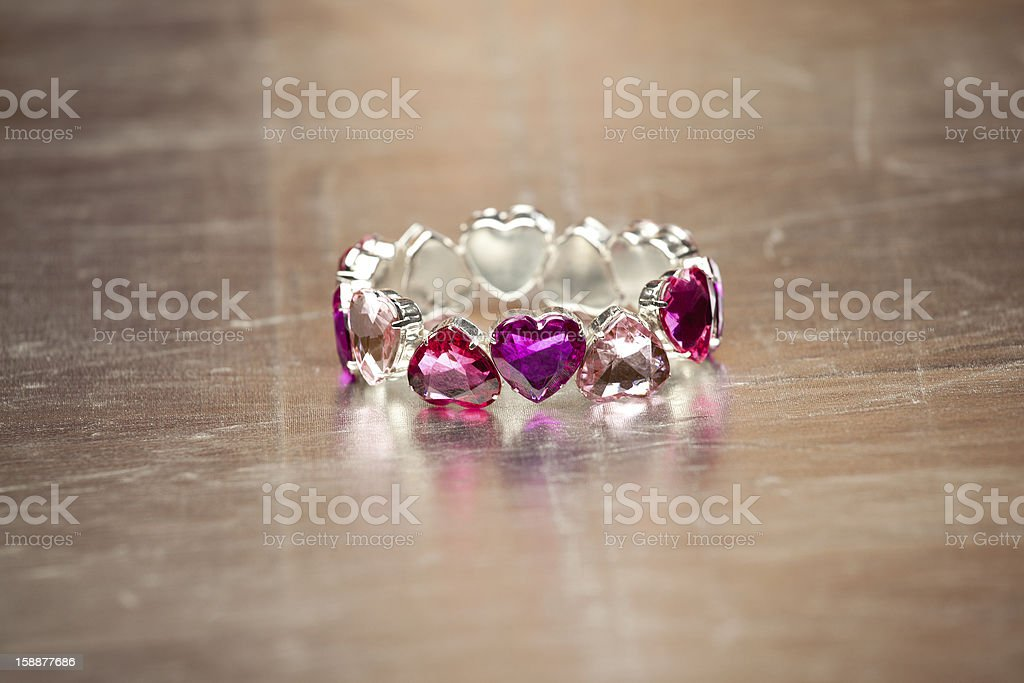 Heart shape bracelet royalty-free stock photo
