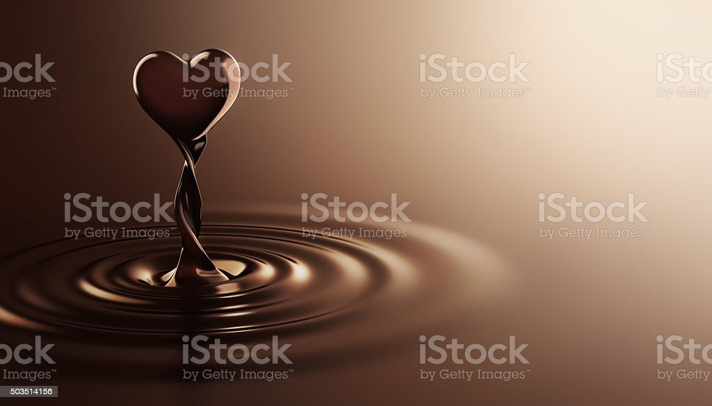Heart Shape Chocolate stock photo