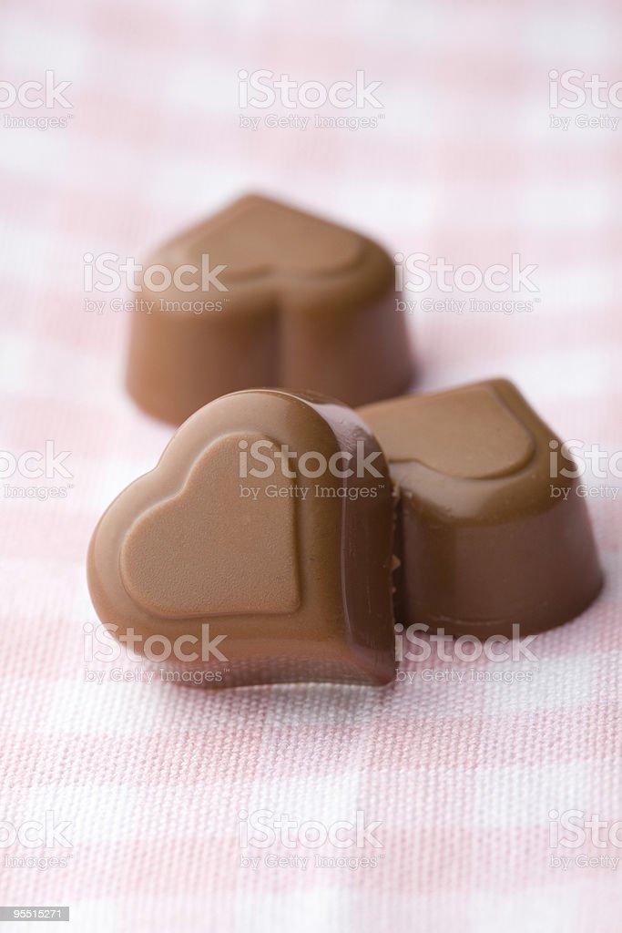 Heart shape chocolate royalty-free stock photo