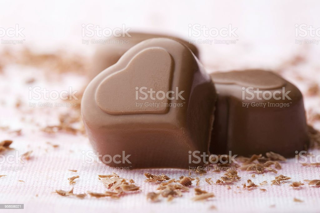 Heart shape chocolate stock photo