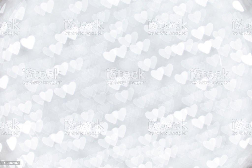 heart shape christmas light stock photo