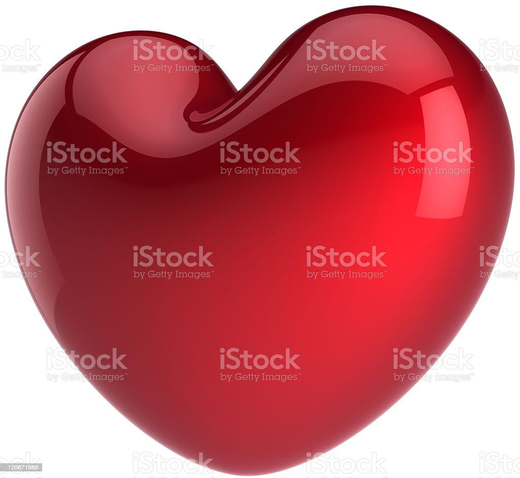 Heart shape classic. I Love You symbol royalty-free stock photo