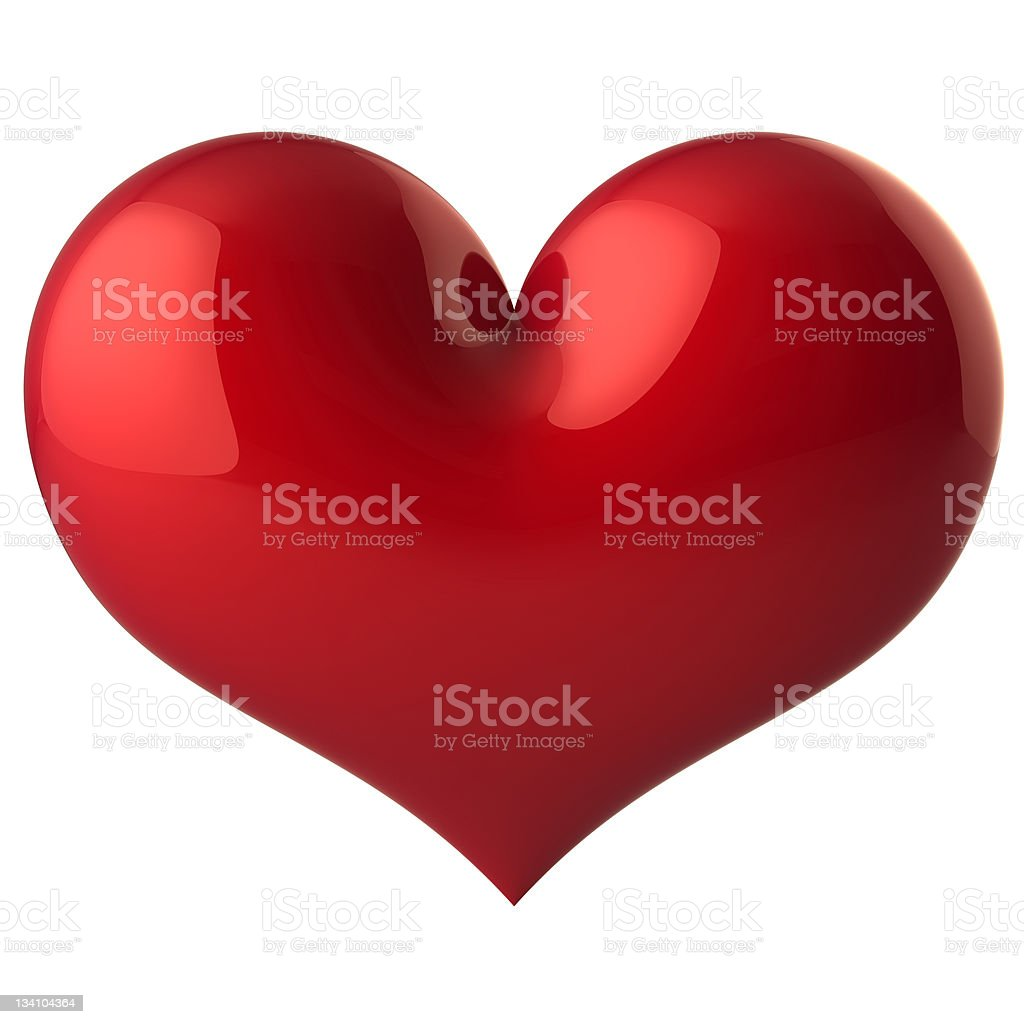 Heart shape classic Love symbol icon royalty-free stock vector art