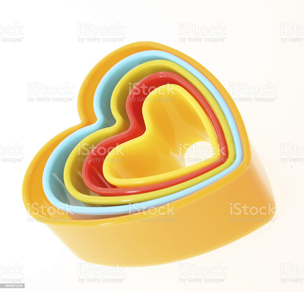 Heart Shape Cookie Cutters royalty-free stock photo